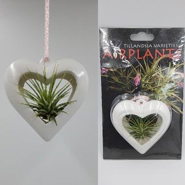 3 Inch White Ceramic Heart